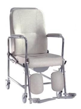Carrozina comoda GR204 seduta rigida con ruote diam.10